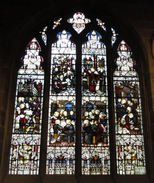 The Cathedral Church of St. Nicholas - stained glass window, north choir aisle