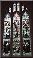 NZ2464 : The Cathedral Church of St. Nicholas - stained glass window, St. Margaret's Chapel by Mike Quinn