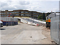 SK5538 : Eastern ramp of the QMC viaduct by Alan Murray-Rust