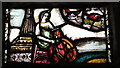 NZ2464 : The Cathedral Church of St. Nicholas - stained glass window, crypt by Mike Quinn