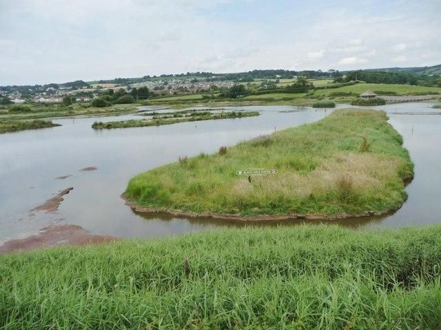Artificial island, Black Hole Marsh, Axe Estuary wetlands