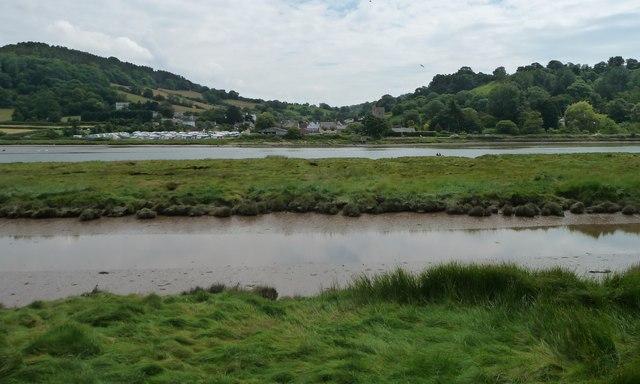 Axe estuary at Axmouth, on a falling tide