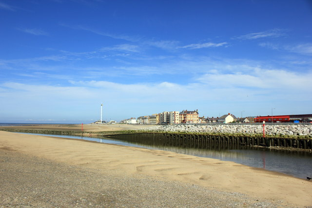 Rhyl from the harbour viewing platform
