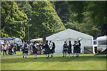 NO3847 : Forfar Pipe Band at the Scottish Transport Extravaganza, Glamis Castle  by Mike Pennington
