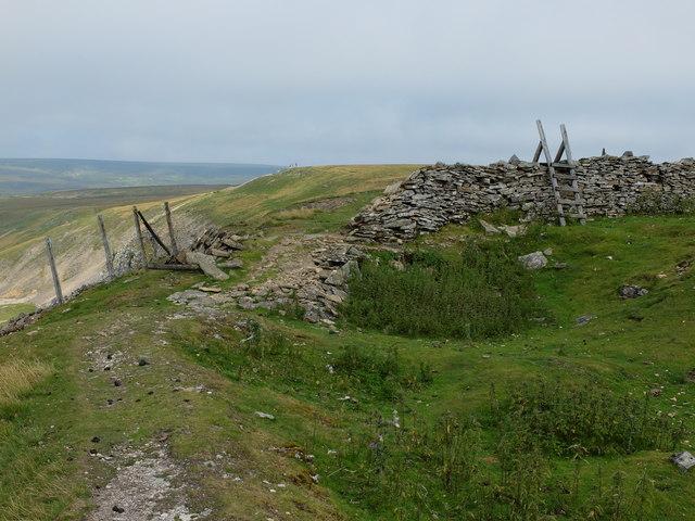 A crumbling drystone wall