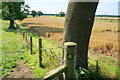 SE6854 : Way marker post near Scoreby Grange Farm by Ian S