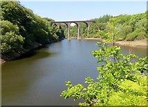 SD7217 : Railway viaduct at Wayoh Reservoir by Philip Platt