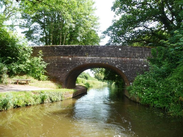 Manley Bridge, Grand Western Canal, from the west