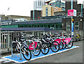 NS5965 : Nextbike Glasgow cycle hire point: Caledonian University by Thomas Nugent