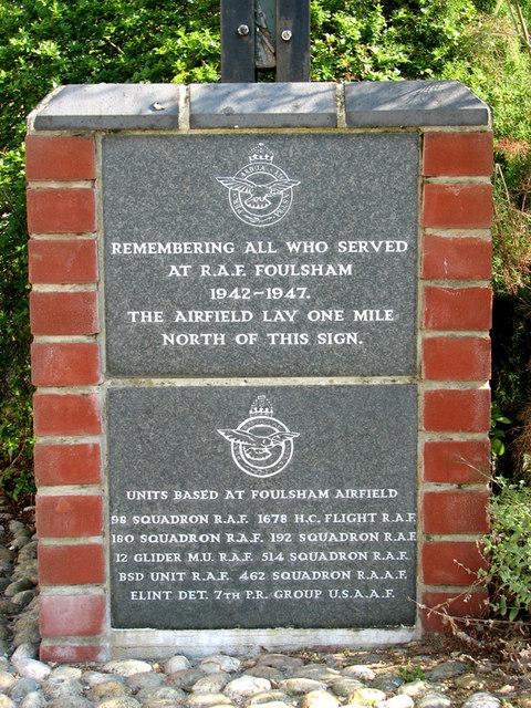 Foulsham village sign (detail)