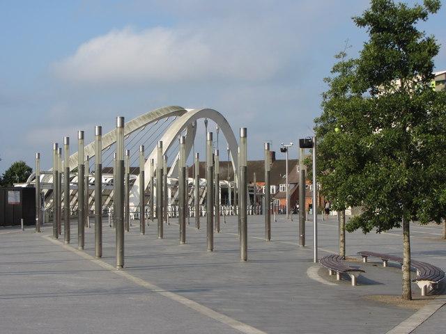 Public space near Wembley Stadium station