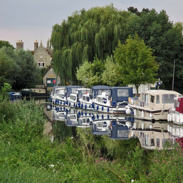 Blue boats at Clayhithe