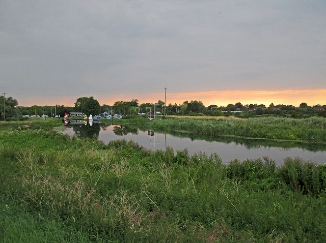 The Cam below Clayhithe on a July evening
