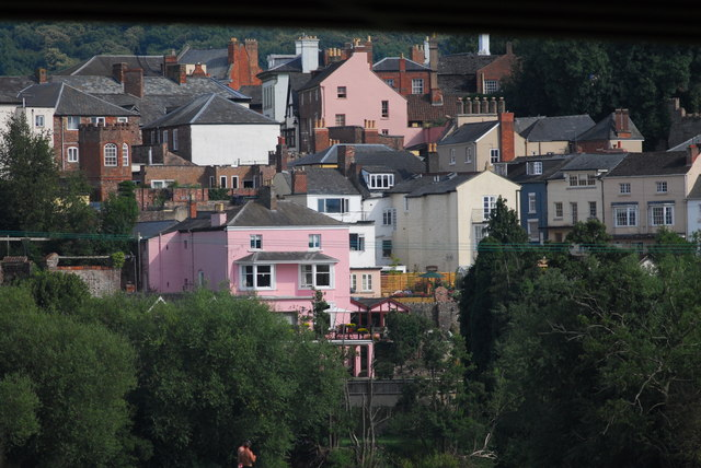 Colourful houses at Ross on Wye