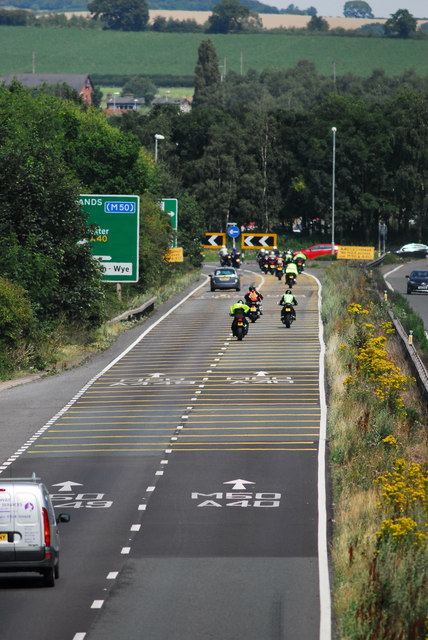 A40 roundabout at Ross on Wye