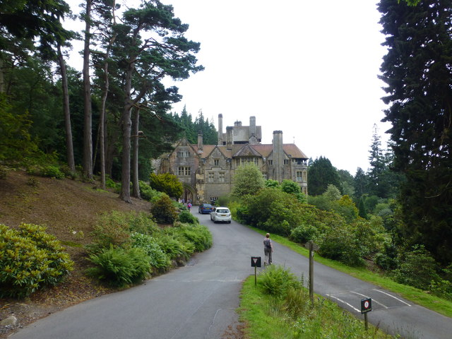 The approach to Cragside on the estate drive