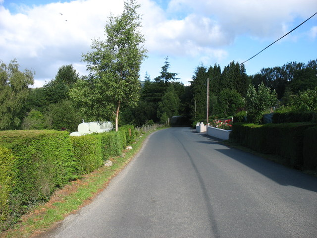 Minor road heading for Aughrim