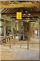 TG0638 : Letheringsett Water Mill - top floor by Chris Allen
