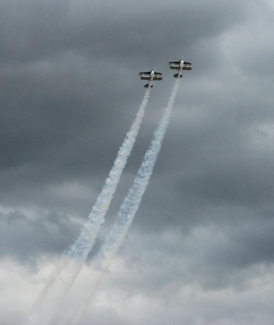 Aerobatic display at the Norfolk Air Show