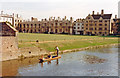 TL4458 : Cambridge: punting on the River Cam past King's College, 1990 by Ben Brooksbank