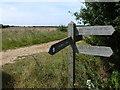 TF7430 : Signpost on The Peddars' Way by Richard Humphrey