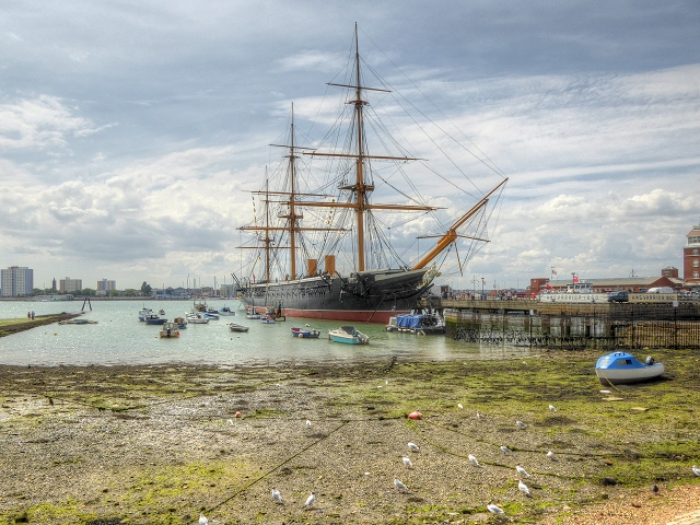 Portsmouth, The Common Hard and HMS Warrior