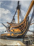 SU6200 : HMS Victory at Portsmouth Historic Naval Dockyard by David Dixon