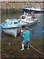 NT9167 : Coastal Berwickshire : Pulling The Boats Ashore by Richard West
