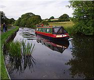 SD4764 : Narrow boat, Lancaster Canal by Ian Taylor