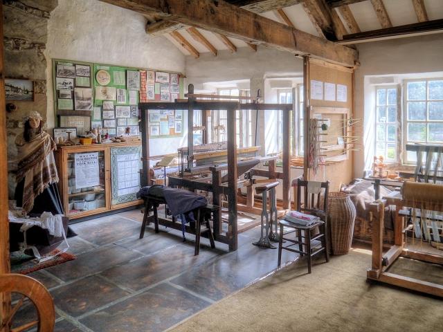 Four-Post Loom, Rawtenstall Weavers' Cottage