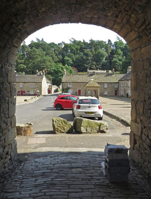 Into the village square