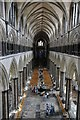 SU1429 : The nave of Salisbury Cathedral by Philip Halling