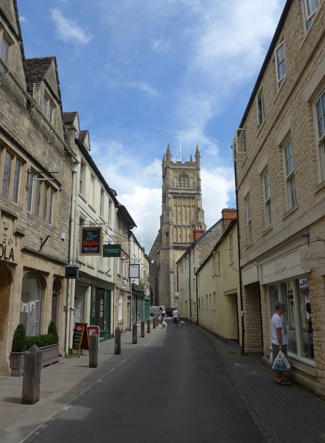 Approaching St John the Baptist, Cirencester from Black Jack Street