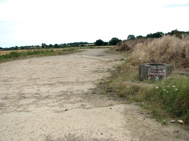 Concreted road on Deopham airfield
