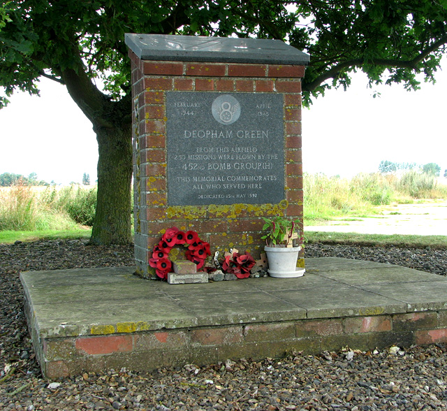 452nd Bomb Group memorial near Deopham Green