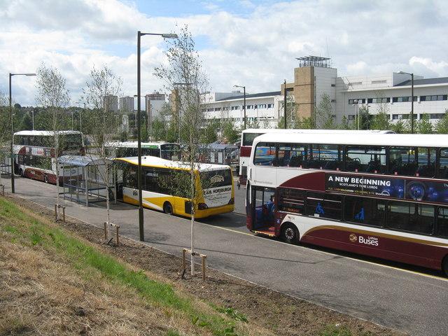 New bus station at Edinburgh Royal Infirmary