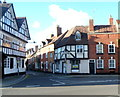 SO8832 : Black and white corners  in Tewkesbury by Jaggery