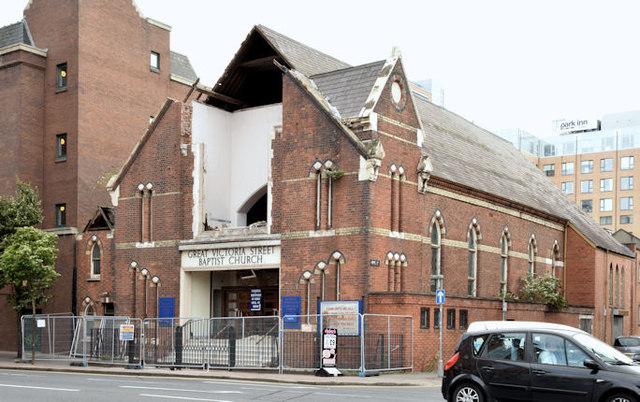 Gt Victoria Street Baptist church, Belfast (demolition) (July 2014)