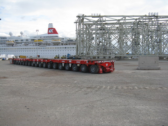 Heavy trailer at the Port of Rosyth