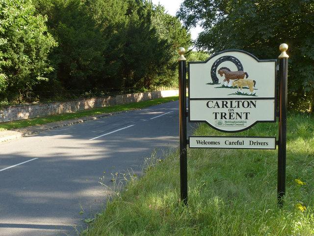 Carlton-on-Trent village sign