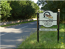 SK7964 : Carlton-on-Trent village sign by Alan Murray-Rust
