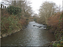 SS8983 : The Llynfi River by Aberkenfig by eswales