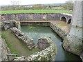 SO4108 : Raglan Castle - Western side of moat from bridge by Rob Farrow