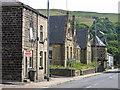 SD9126 : Cornholme - NE end of Burnley Road by Dave Bevis