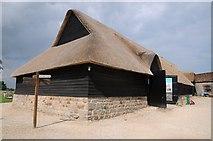 SU1070 : Thatched barn at Avebury by Philip Halling