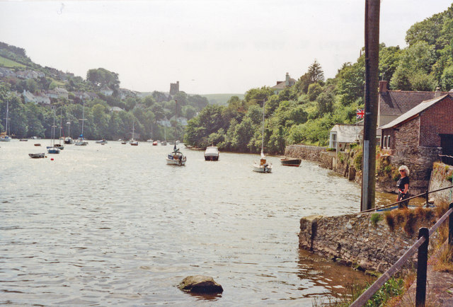 Newton Ferrers: westward on Newton Creek, 1991