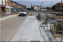 SK5236 : Chilwell Road tram stop takes shape by David Lally