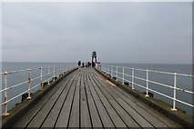 NZ8911 : Whitby West Pier by DS Pugh