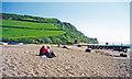 SY2088 : Branscombe: eastward on beach to Beer Head, 2000 by Ben Brooksbank