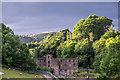SJ9477 : Towards the derelict Ingersley Mill and 'The Nab' hill beyond by Andrew Huggett